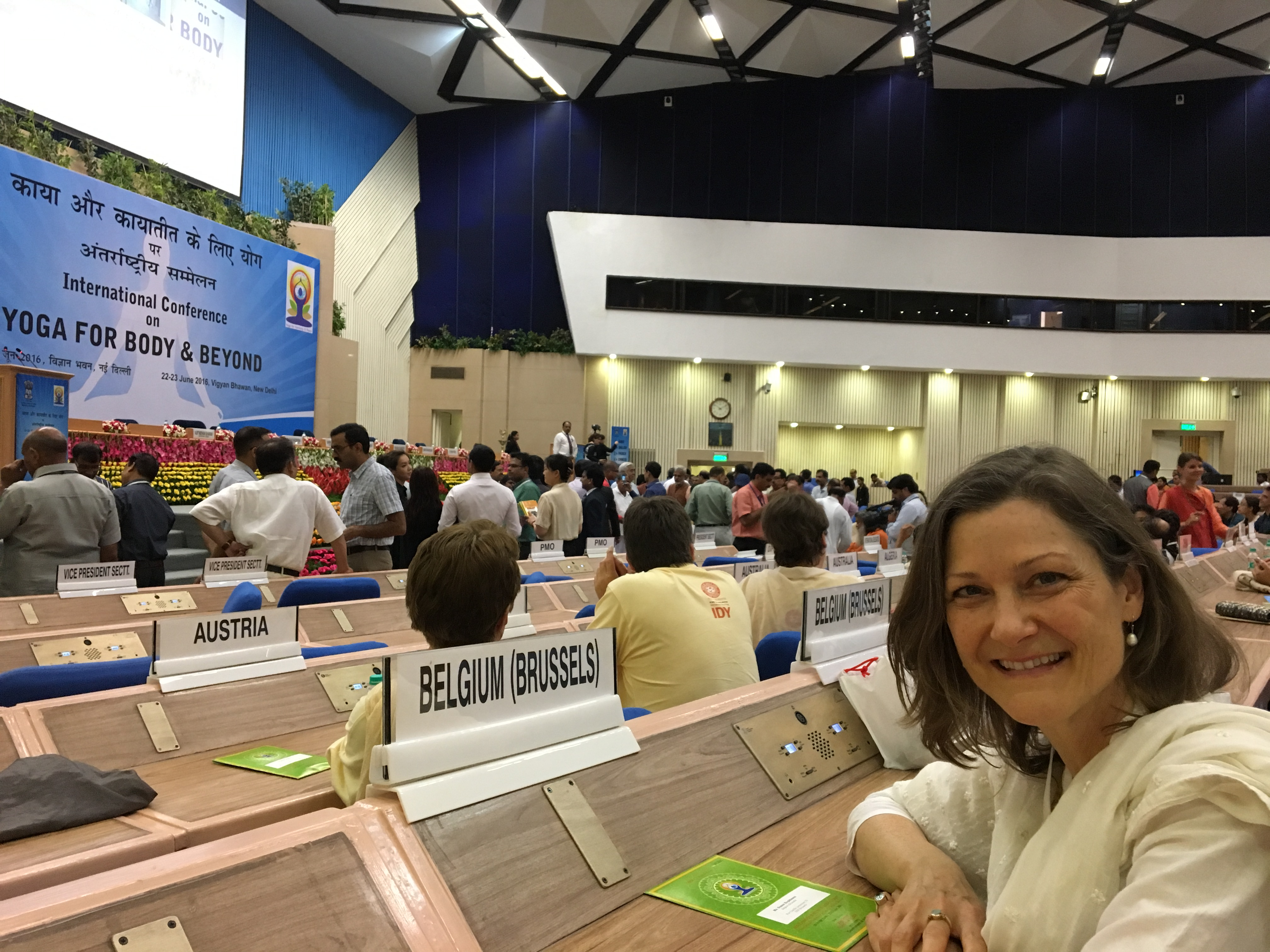 The Second International Yoga Conference in Delhi, India